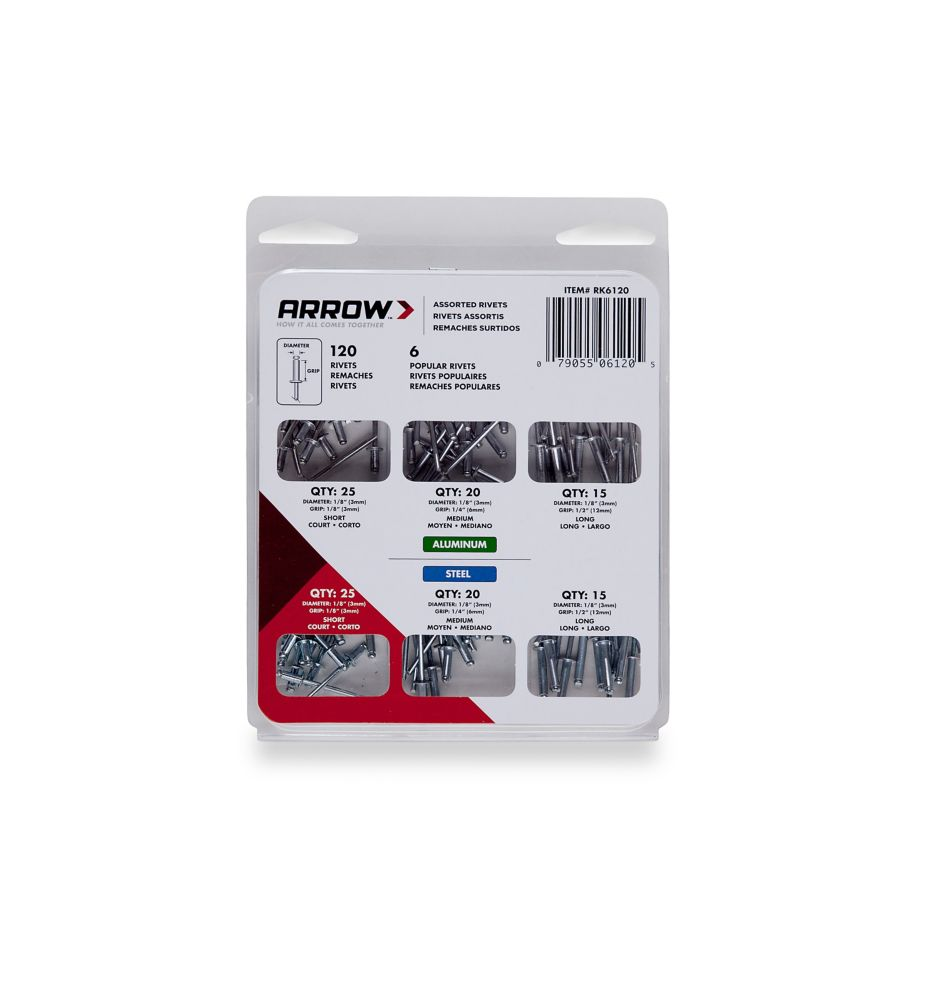 Arrow Multi Purpose Rivet Assortment