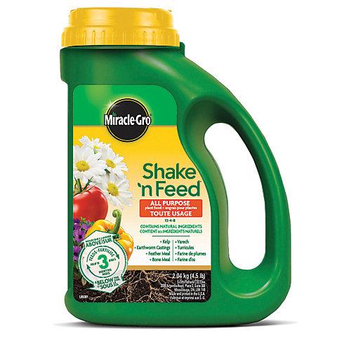 Shake N Feed engrais pour plantes tout usage 12-4-8 2.04 kg
