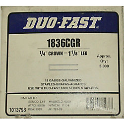 Duo-Fast Agrafes 1 1/8 po duofast
