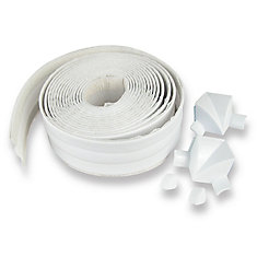 Tub Surround 1 1/2 Inch X 11 Feet (3.81 Cm X 3.35 M) White