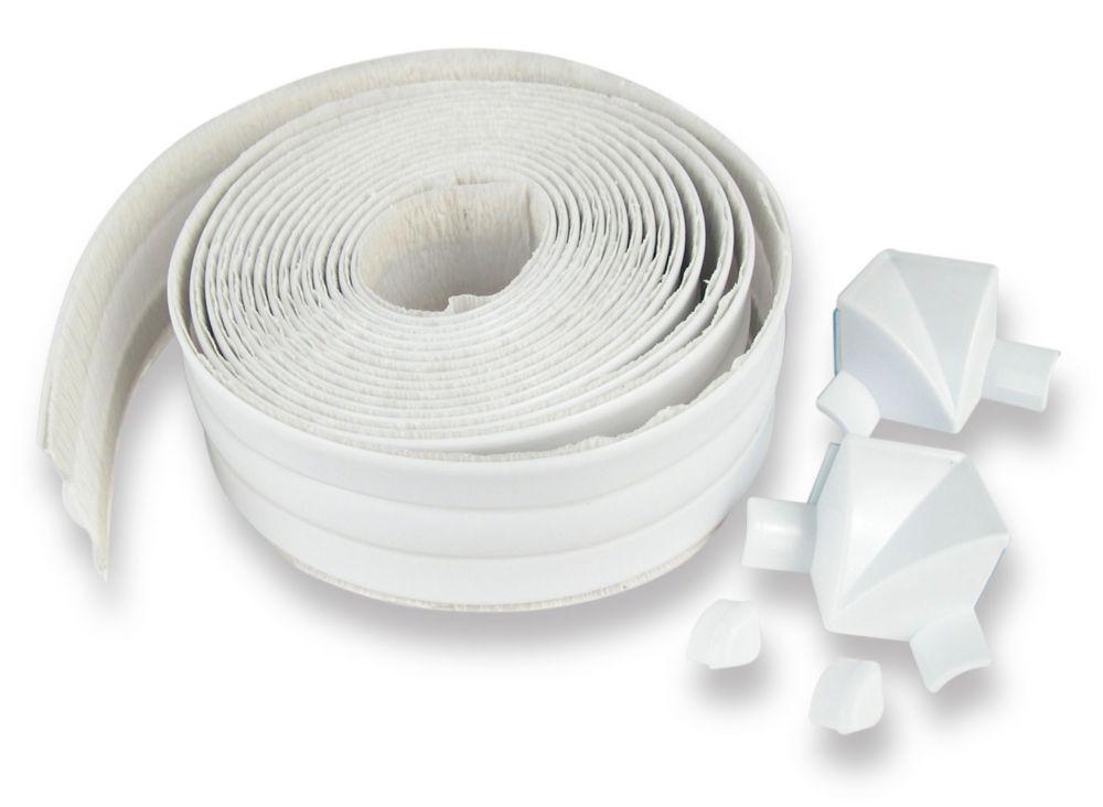 """Tub Surround 1 1/2"""" X 11' (3.81 Cm X 3.35 M) Blanc"""