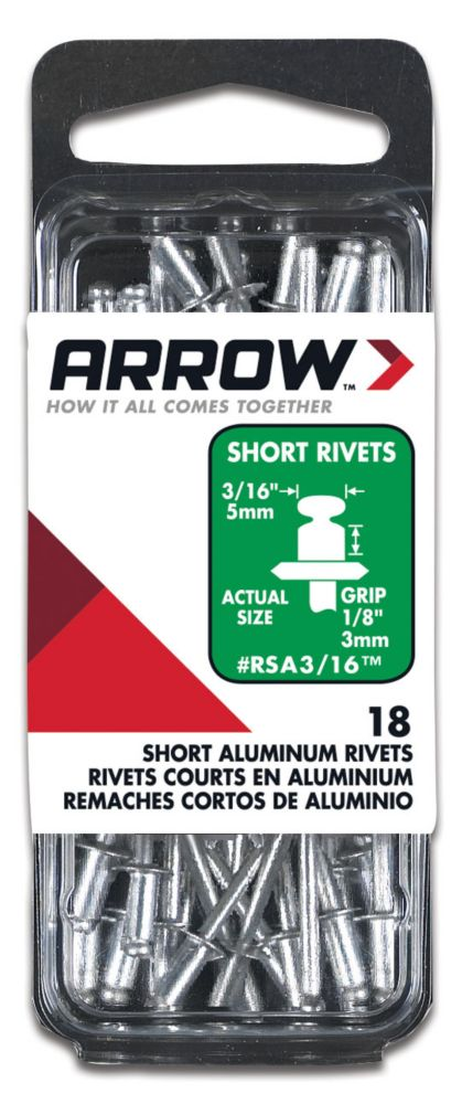 Rivet court aluminum 3/16""