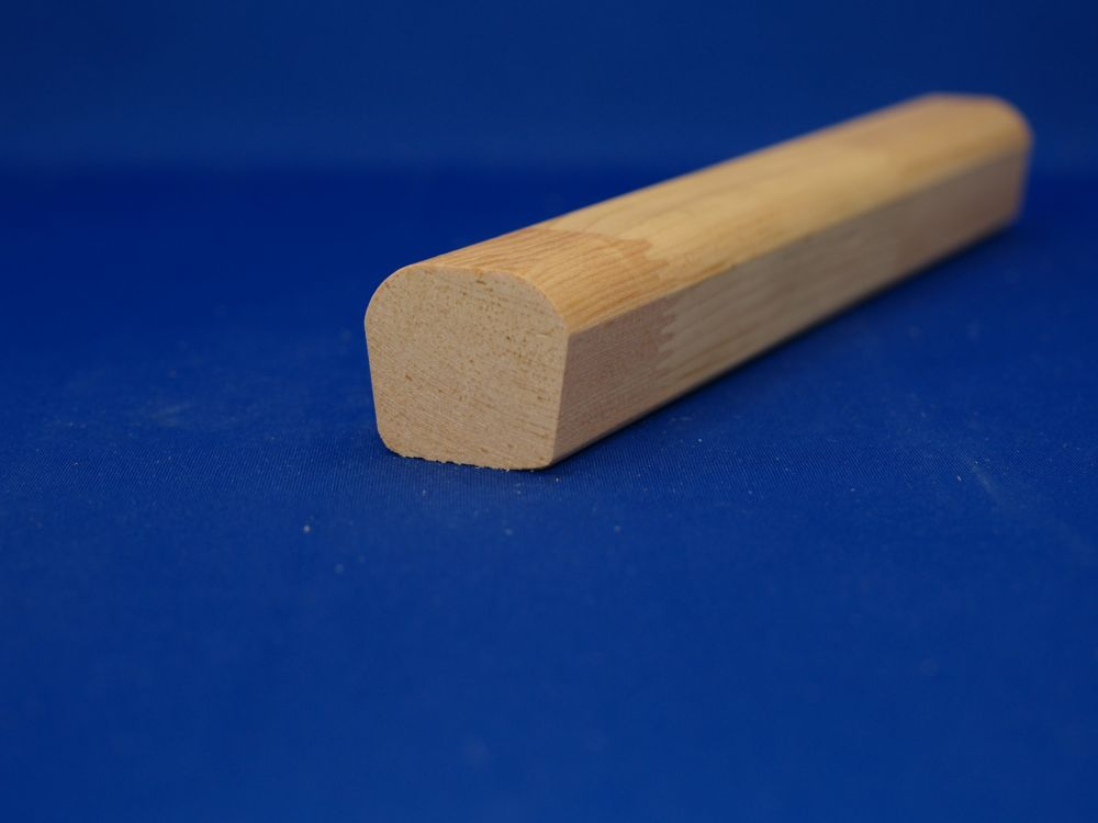 Finger Jointed Pine Handrail 1-7/16 Inches x 1-5/8 Inches x 8 Feet