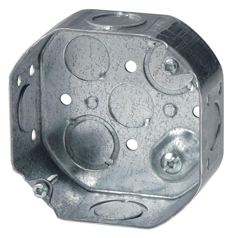 Octagonal Box 1-1/2 In. Deep KO