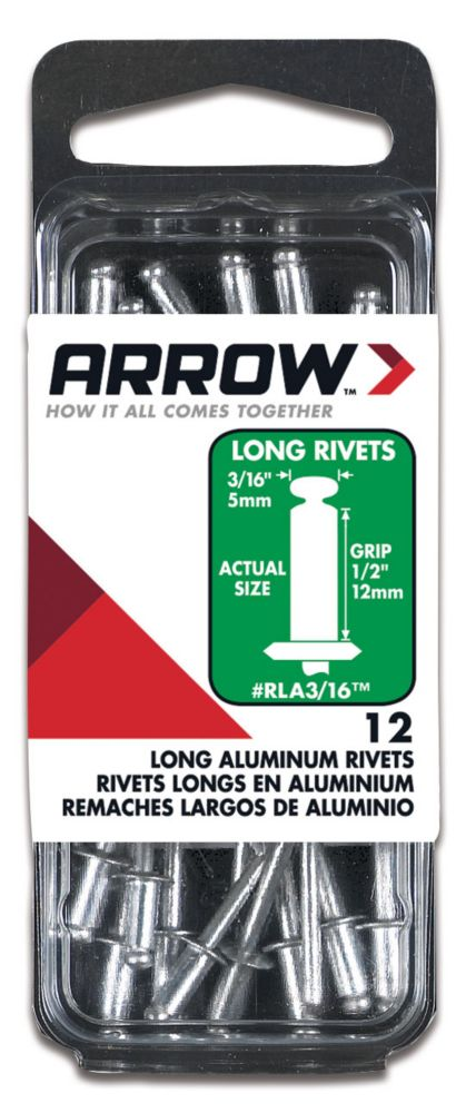 Rivet long aluminum 3/16""