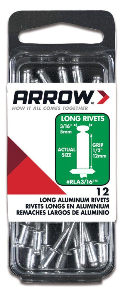 """Arrow Long aluminum 3/16"""" rivet - Pack of 50"""