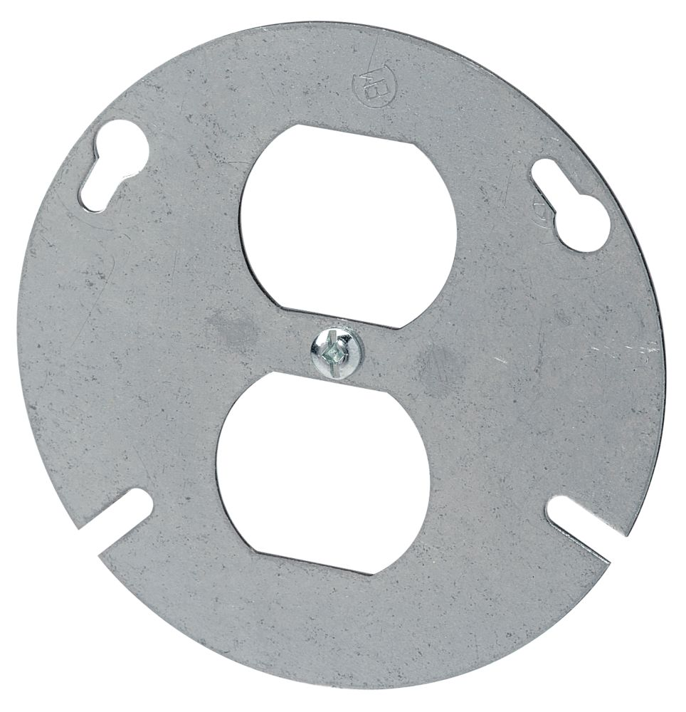 4 In. Round Duplex Cover