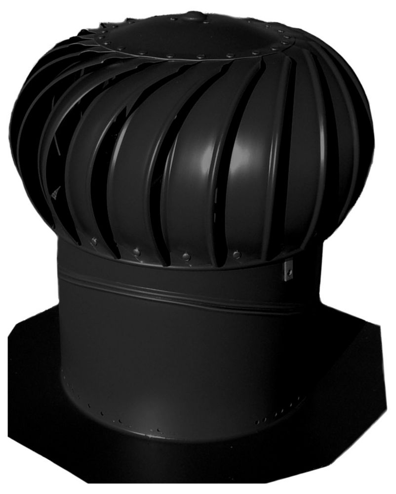 Black 14 Inch Turbine Vent Whirlybird