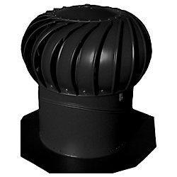 Lomanco Noir 14 pouce turbine conduit whirlybird