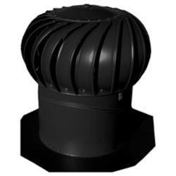 Lomanco Black 14 Inch Turbine Vent Whirlybird