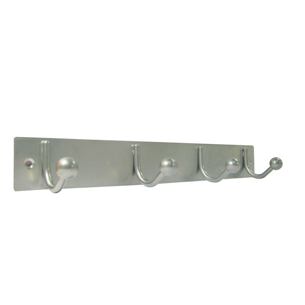 Hook Bar 4 Brushed Aluminum