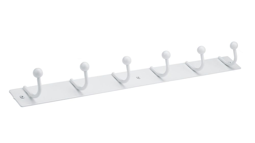 Nystrom Utility Hook Rack, White