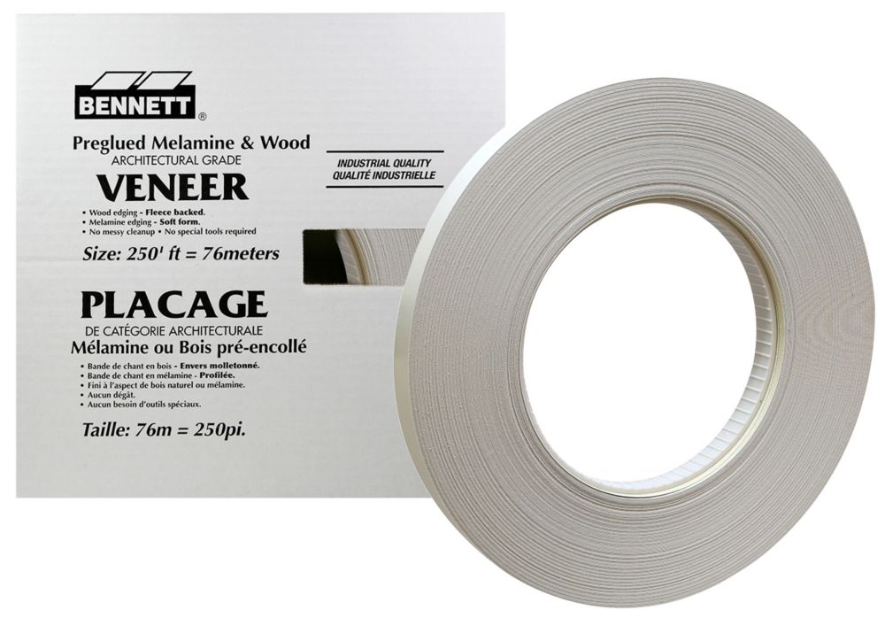 BENNETT 250 ft. Roll, Grey Veneer Edging