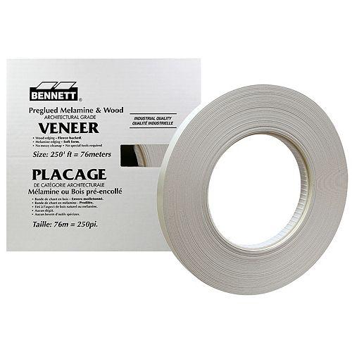 BENNETT 250 ft. Roll, Grey Veneer Edging