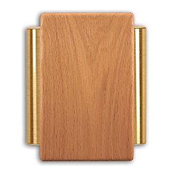 Heath Zenith Carillon de porte câblé à boîtier de chêne massif et tubes latéraux au fini laiton satiné