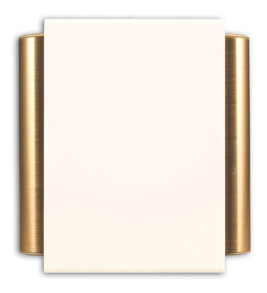 Heath Zenith Wired Door Chime With Off-White Cover And Satin Brass Finish Side Tubes