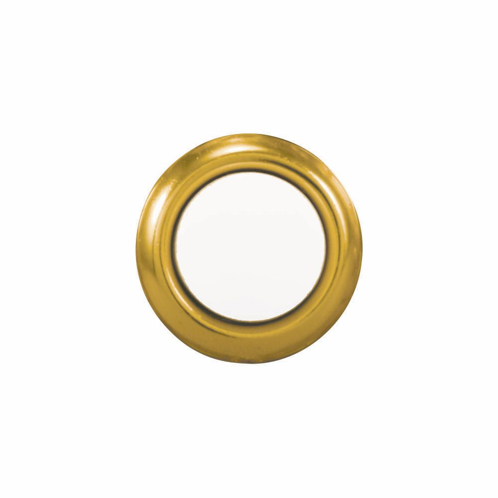 Heath Zenith Wired Replacement Button - Gold Rim With Lighted Pearl Center