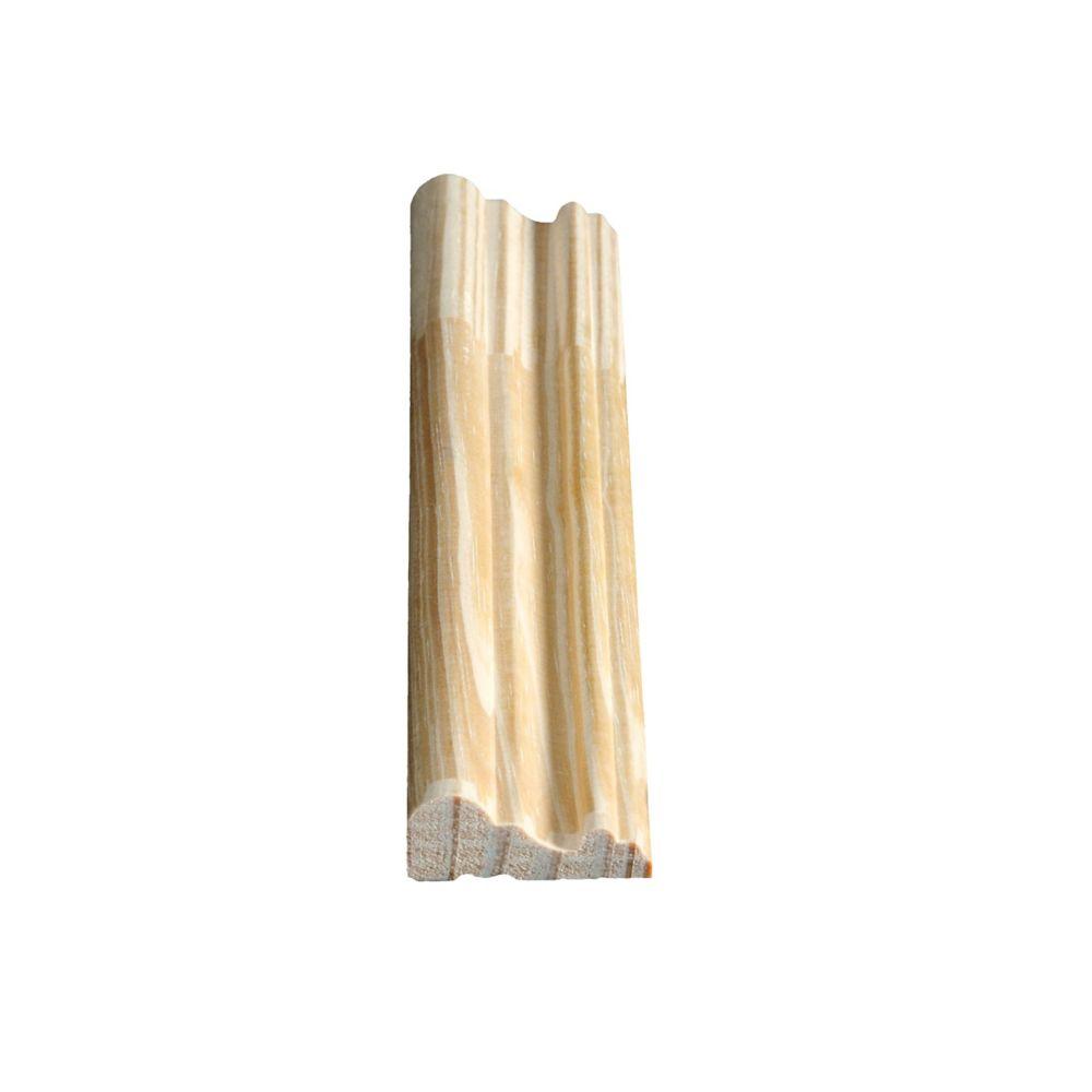 Cimaise de protection jointée, pin 11/16 X 1 3/4