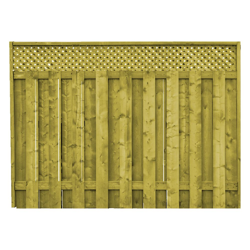ProGuard Treated Wood Lattice Top Fence Panel