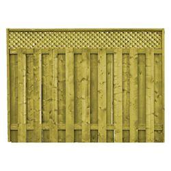 ProGuard Treated Wood Lattice Top Fence Panel