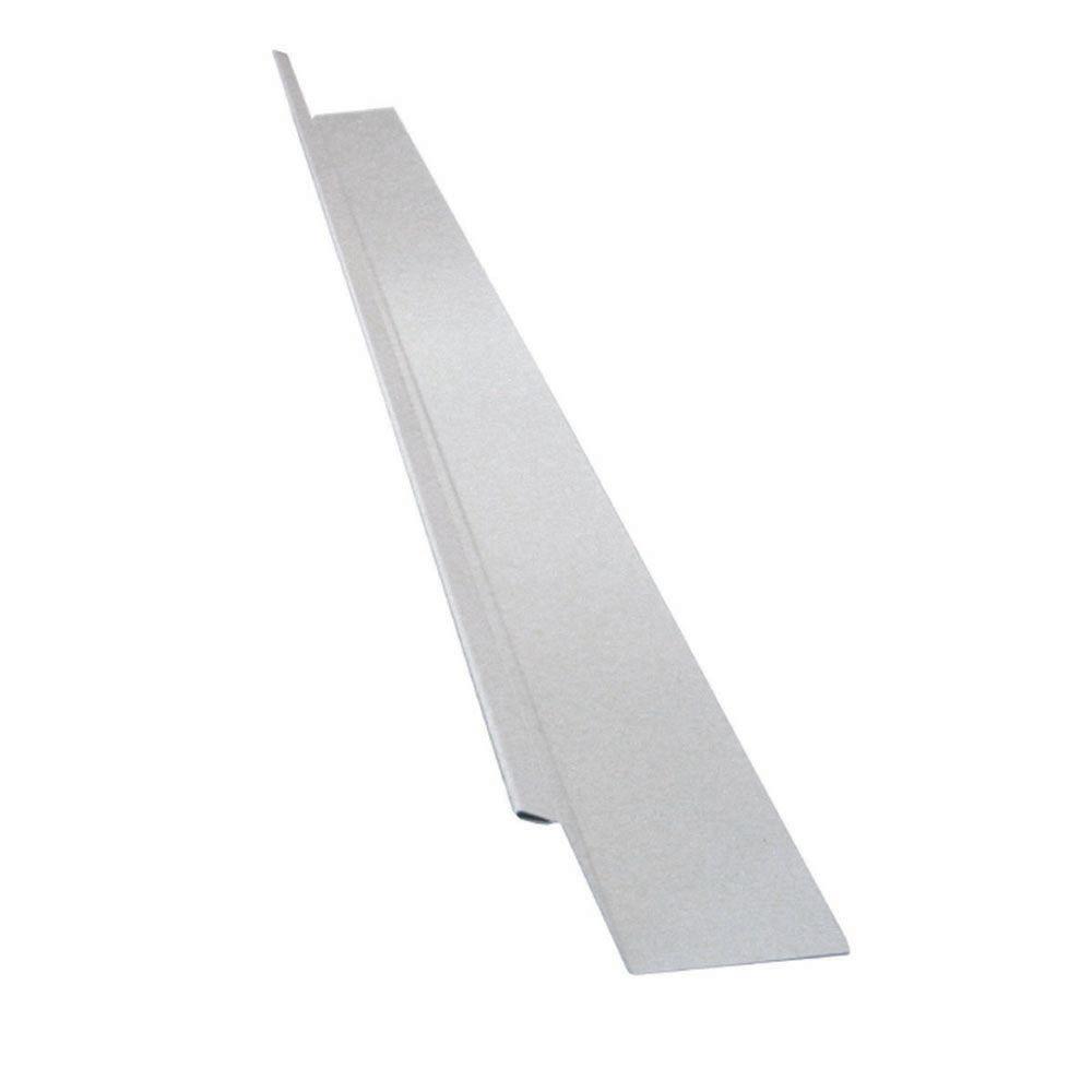 Drip Flashing, 2 x 7/8 x 3/8 In. - White Galvanized