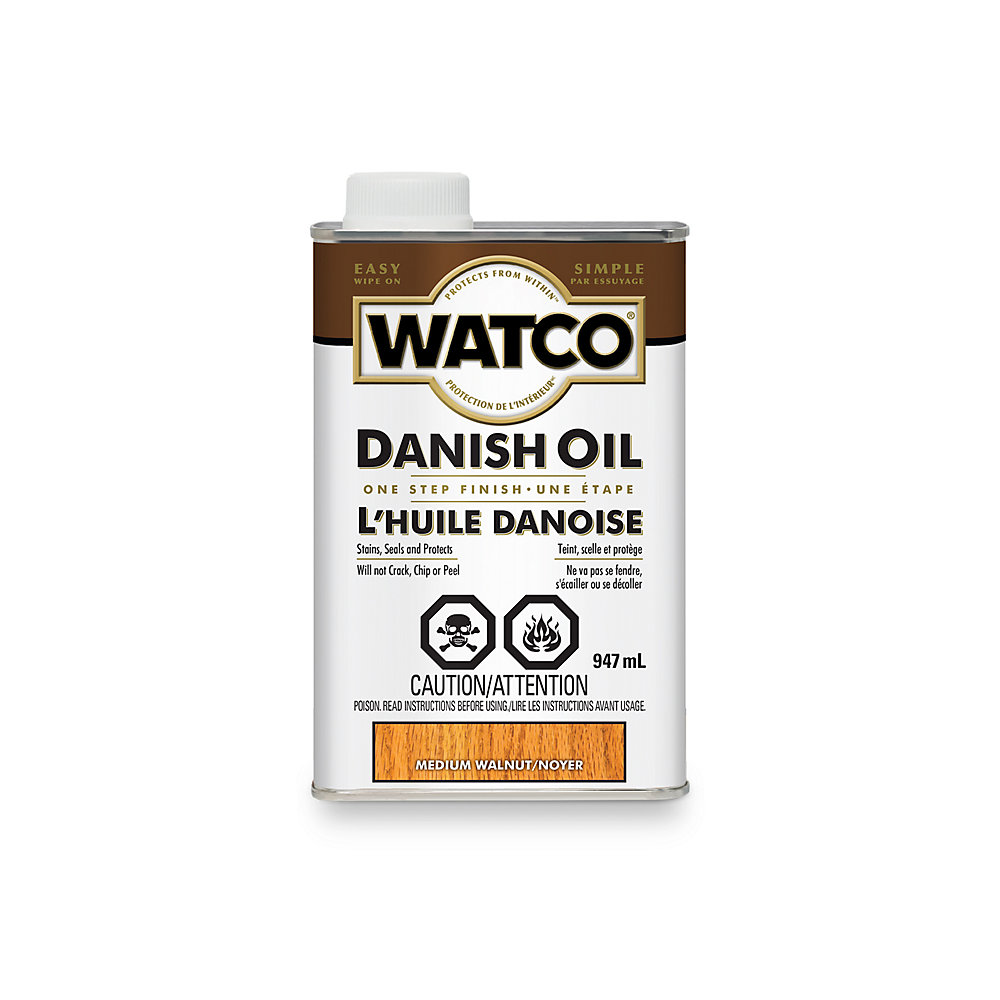 Watco Fini à Huile Danoise - Noyer moyen-946Ml