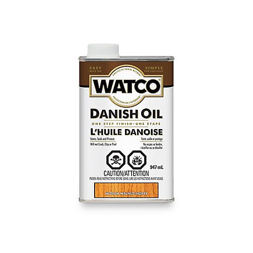 Danish Oil One Step Finish In Medium Walnut, 946 Ml