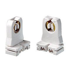 Fluorescent Lamp holder Short Type, White