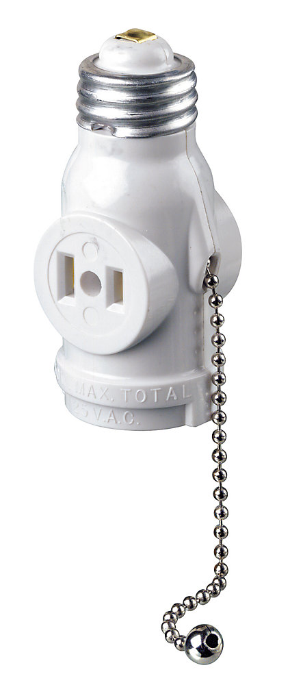 Leviton Socket Pull Chain White The Home Depot Canada