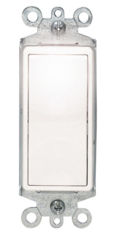 Decora 3 Way Illuminated  Switch,  White