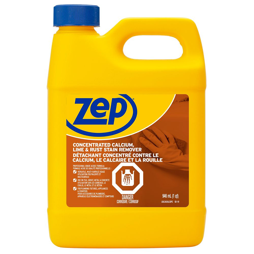 Zep commercial zep calcium lime rust remover 946ml for Sanivac concentrate bathroom cleaner and lime remover