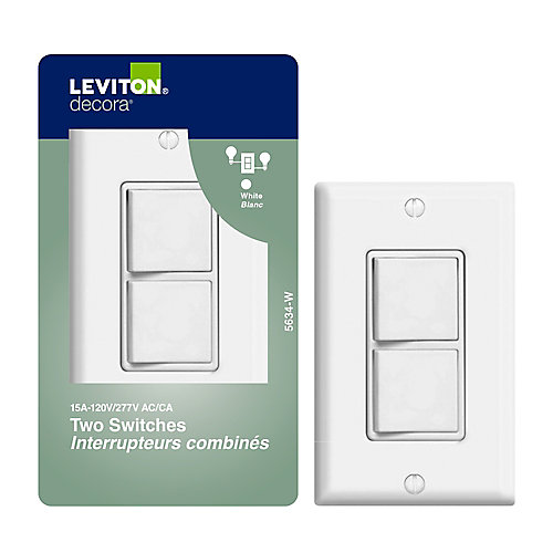 Decora Combination Switch/Switch , White