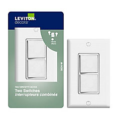 Dispositif Decora Combiné, Interrupteur/Interrupteur, Blanc