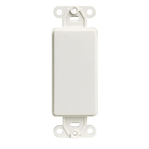 Decora Blank Adapter Plate, White