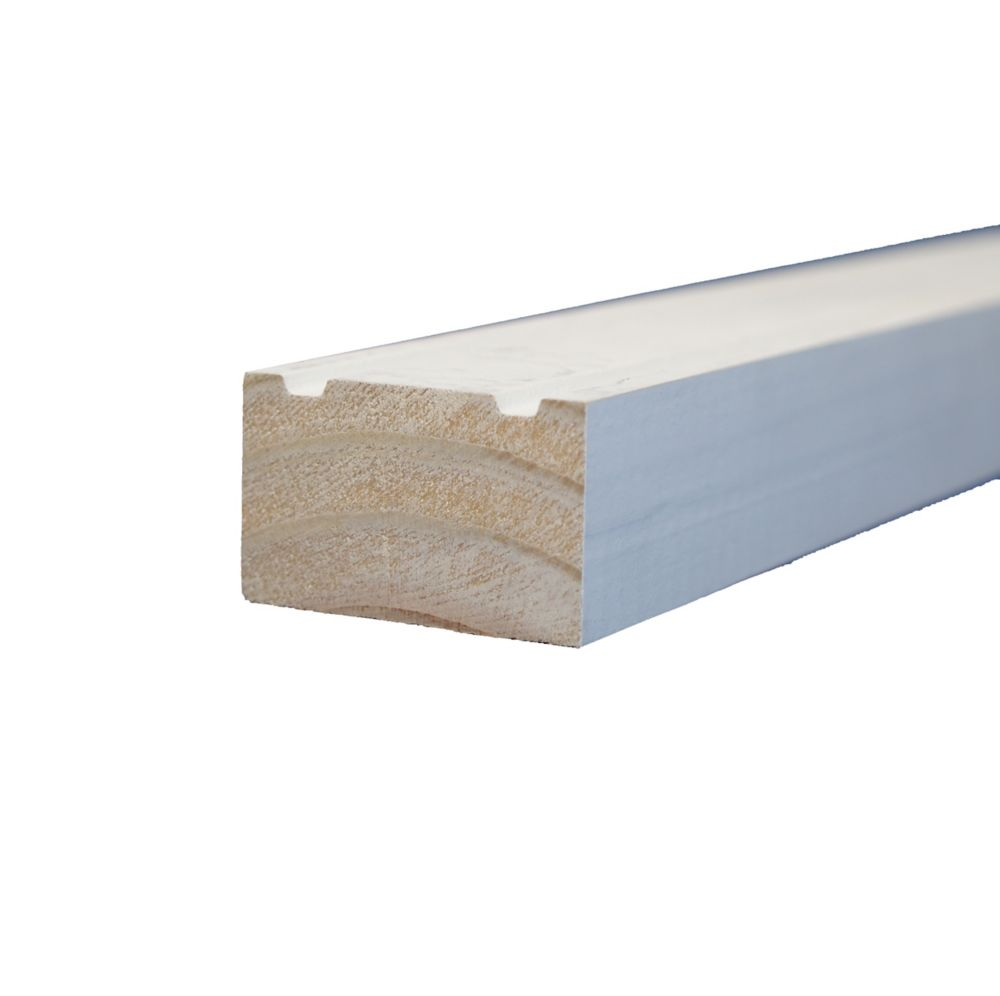 Primed Finger Jointed Pine Brick Moulding 1-1/4 In. x 2 In. (Price per linear foot)