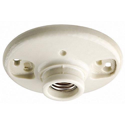 Medium Base Keyless Incandescent Lamp Holder, White