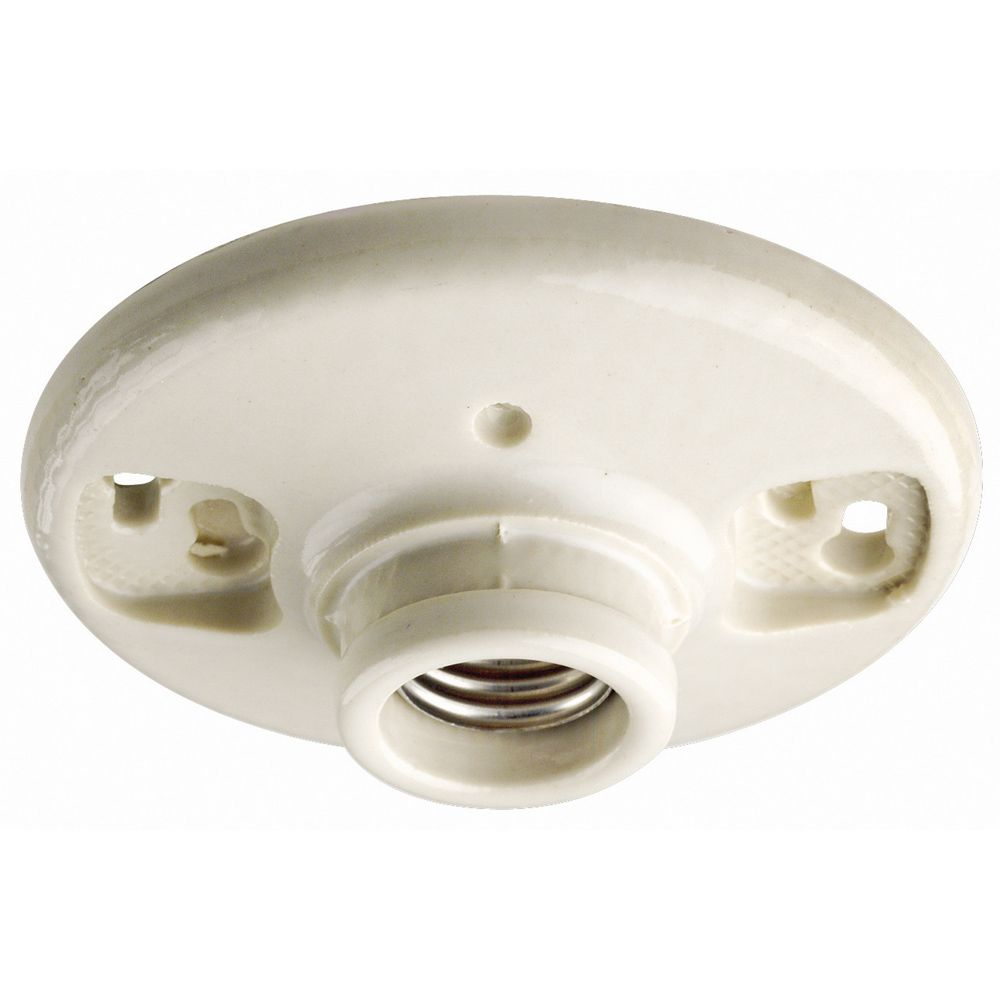 Douille à culot moyen pour ampoule incandescente , blanc