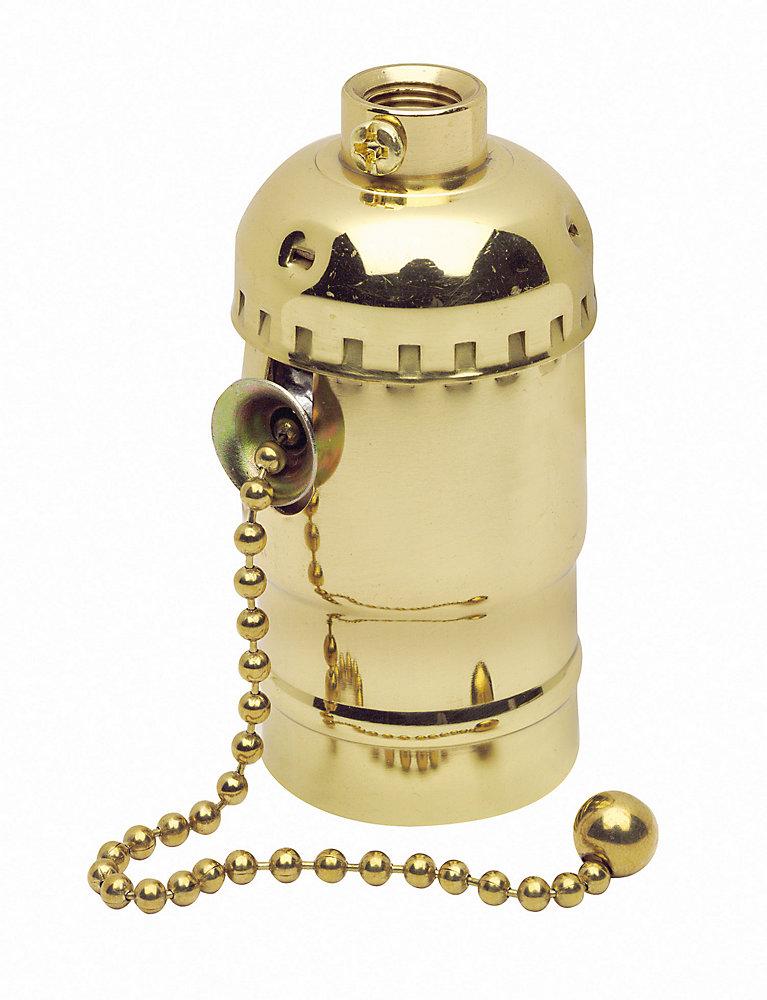 Socket Pull Chain, Brass