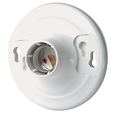 Keyless Lamp holder, White