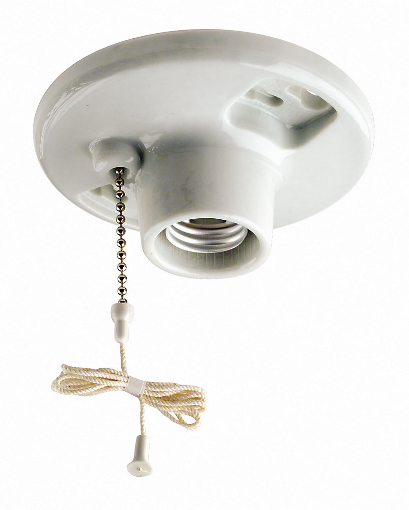 Lamp holder with pull chain switch