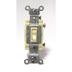 Leviton Framed Toggle Single-Pole Switch , Ivory