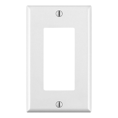 Decora wall plate 1 Gang, White