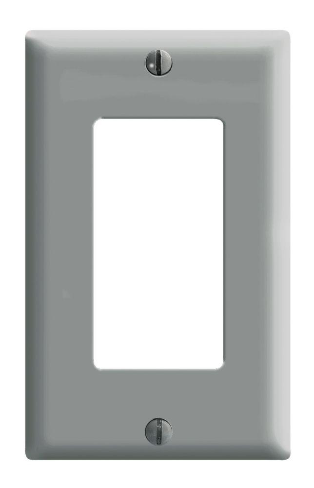Plaque Decora, Un Dispositif, Gris