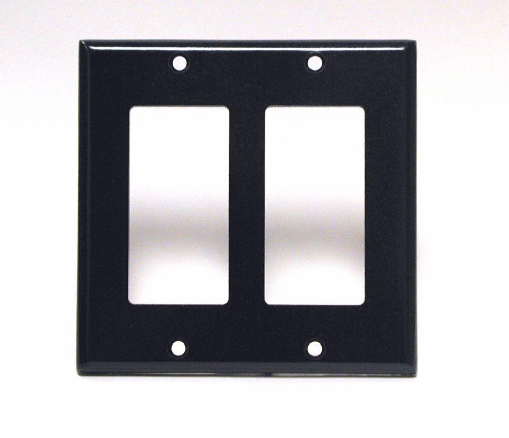 Plaque Decora, Deux Dispositifs, Noir