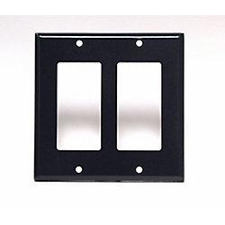 Leviton Plaque Decora, Deux Dispositifs, Noir