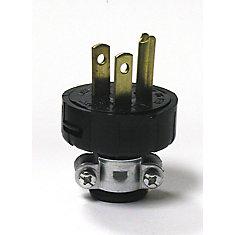 3 Wire Cap Plug, Ebony