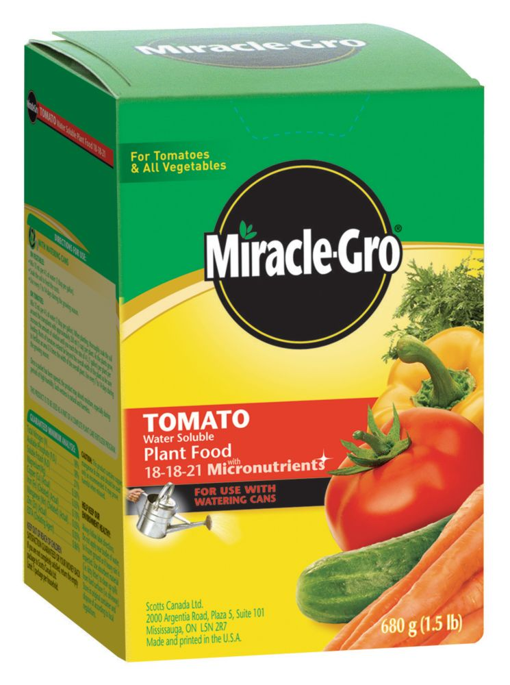 Miracle Gro Miracle Gro Water Soluble Tomato Plant Food The Home Depot Canada