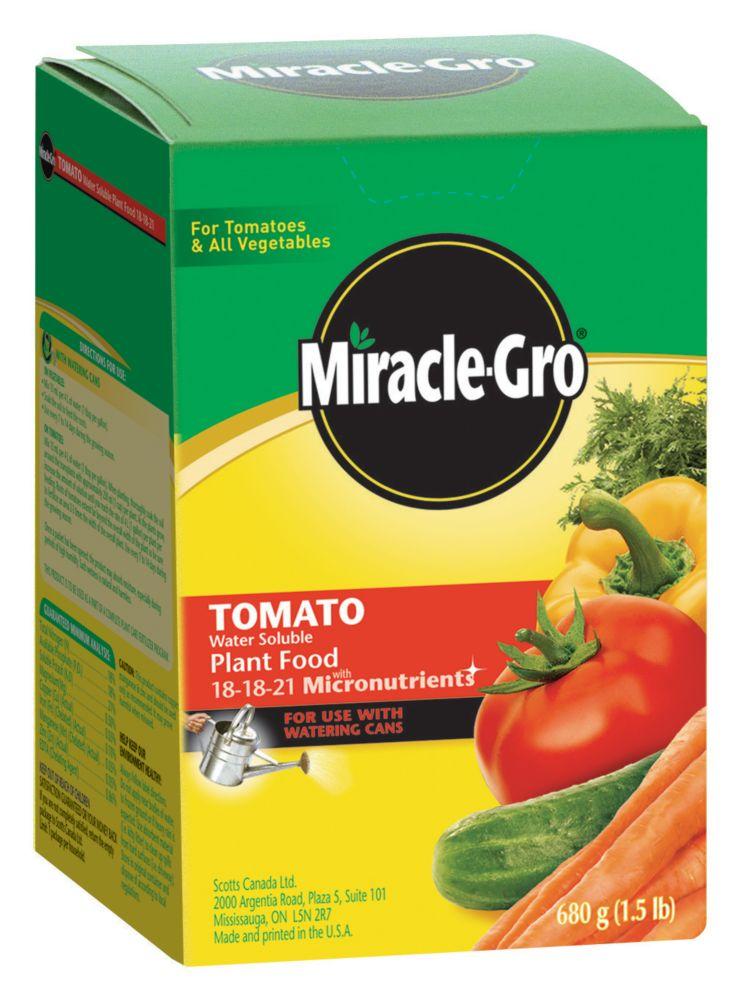 Engrais hydrosoluble Miracle-Gro pour tomates 18-18-21