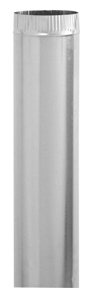 3 x 30 Inch Galvanized Pipe 30 gauge