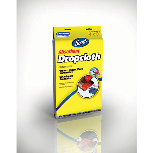 Absorbent Dropcloth, 4 ft. x 10 ft.